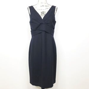 NWT ELIE TAHARI Zoe Wool Navy Blue Dress